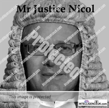 Mr Justice Nicol the Judge presiding over Johnny Depp's libel case against The Sun newspapers