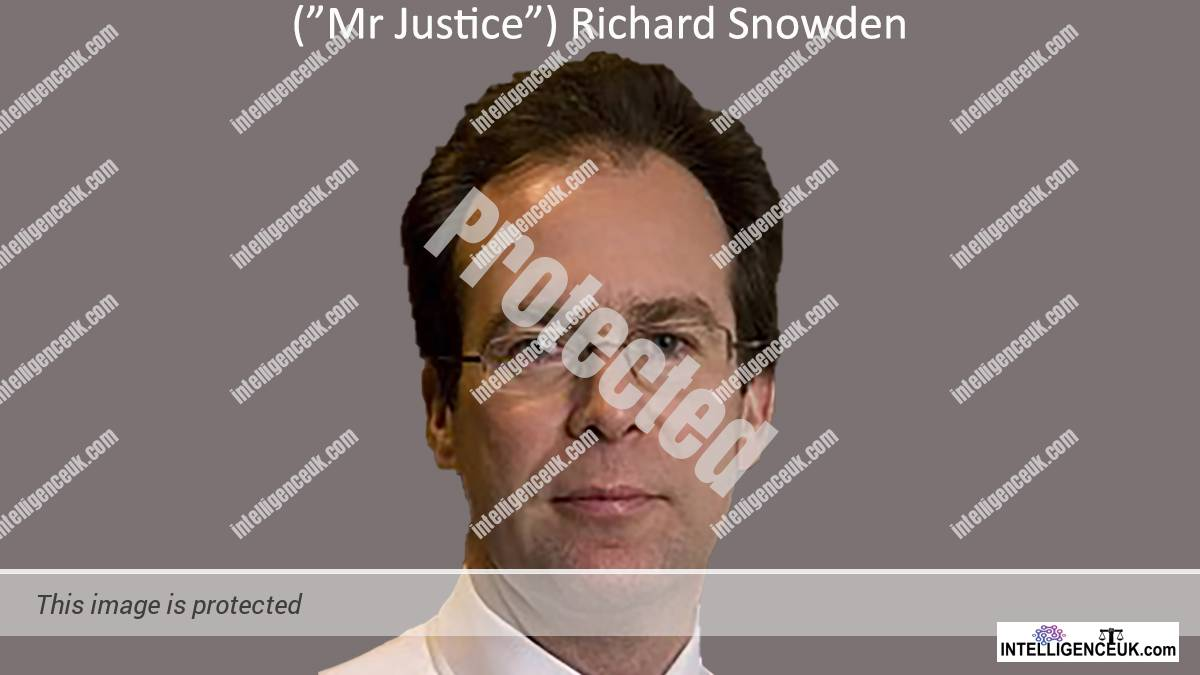 Mr Justice Snowden - Now Lord Justice Snowden